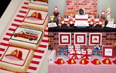 @Courtney Stolte fireman theme for cinco's birthday party!