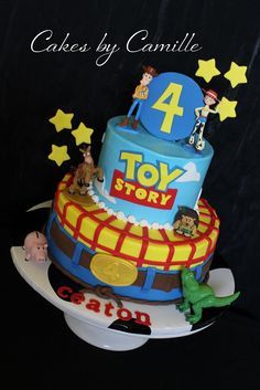 Toy Story Birthday Cake for january Toy Story Birthday Cake, 1st Birthday Cakes, My Son Birthday, Toy Story Party, Birthday Party Themes, Birthday Ideas, Cupcakes, Cupcake Cakes, Woody Cake