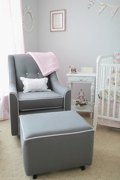 Modern glider for the nursery (Little Castle from @buybuy BABY)