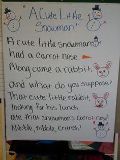 Winter Poems for Kindergarten | Fun in PreK-1: Working in a Winter Wonderland & Friday Freebies