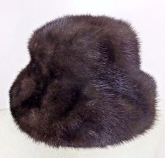 VTG Voguemont Mink Cloche Hat Real Mink Fur Brown Womens One Size #Voguemont #Cloche