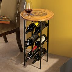 Bordeaux Wine Rack Side Table - Wine Enthusiast