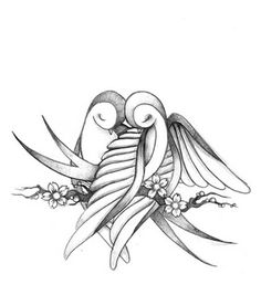 """swallows tattoo--great idea for a """"couple's"""" tattoo, without doing the taboo name tattoo."""