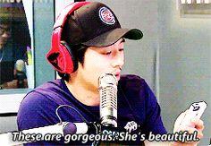 Steven Yeun's reaction to Lauren Cohan's recent GQ photoshoot