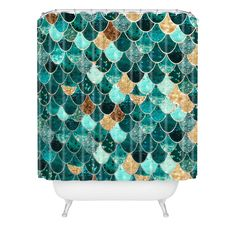 Monika Strigel Really Mermaid Shower Curtain | DENY Designs Home Accessories
