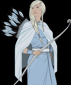 Beautiful archer from the Banner Saga