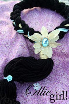 Custom Jasmine Arabian princess hair crown halo braid by Boutique Ollie Girl. $37.00, via Etsy.