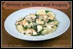 Shrimp with Orzo and Arugula