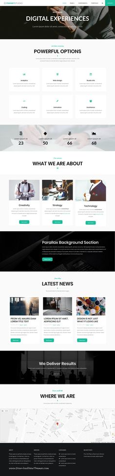 Franky is clean and modern design responsive multipurpose WordPress theme for digital #studio website with 6 niche homepage #layouts to live preview & download click on Visit #webdevelopment