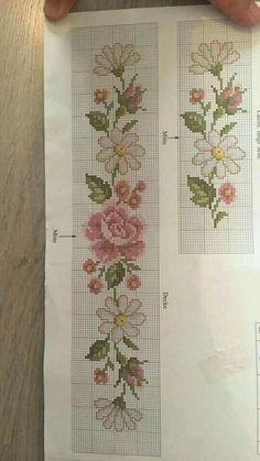 Really nice Cross-Stitch towel flowers patterns. Cross Stitch Bookmarks, Cross Stitch Bird, Beaded Cross Stitch, Cross Stitch Borders, Cross Stitch Flowers, Cross Stitch Designs, Cross Stitching, Cross Stitch Embroidery, Cross Stitch Patterns