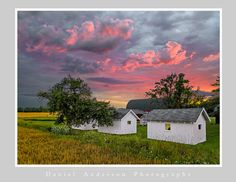 Door County - Daniel Anderson Paul Harvey, Door County, Country Life, Farmer, The Row, Fields, Past, Clouds, House Styles