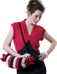 Berroco® Free Pattern   Melody - Pattern for vest and bag. I would like to make a pillow