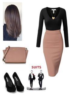 A fashion look from November 2015 by crazy-wild-ninja featuring J.TOMSON, Doublju, Nly Shoes, Michael Kors and Marc by Marc Jacobs Business Outfits, Office Outfits, Business Fashion, Office Fashion, Work Fashion, Skirt Fashion, Women's Fashion, Classy Outfits, Chic Outfits