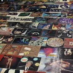 Record cover floor