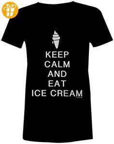 KEEP CALM and play Hockey ☆ Rundhals-T-Shirt Frauen-Damen ☆ hochwertig  bedruckt mit lustigem Spruch ☆ Die perfekte Geschenk-Idee (*Partner-Link)  ...