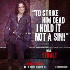 Romeo who?  MUST SEE Ed Westwick as Tybalt in the 2013 Romeo and Juliet.  Perfect casting!