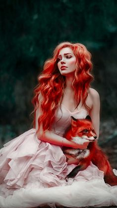 Enjoy Reading this tale about the fox, hope you'll like it. Foto Fantasy, Fantasy Art, Fantasy Photography, Portrait Photography, Fox Art, Gothic Beauty, Beautiful Images, Red Hair, Redheads