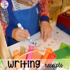 How to set it up & add literacy and math opportunities to the grocery store in your preschool, pre-k, & kindergarten classroom. Preschool Writing, Preschool Curriculum, Kindergarten Classroom, Writing Activities, Preschool Activities, Classroom Ideas, Homeschooling, Play Grocery Store, Alphabet