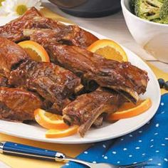 Country Pork Ribs.. i used this recipe (- the ginger and horseradish- had none) and added half a can beer to tenderize. cooked in my electric pressure cooker for 30 mins and it was Mouth Wateringly DELISH and fall apart tender and juicy! Adding to my lineup!