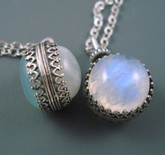 This two-for-one pendant. | 23 Ridiculously Pretty Moonstone Necklaces You 100% Need