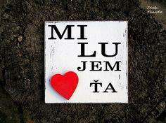 Tabuľka Milujem ťa