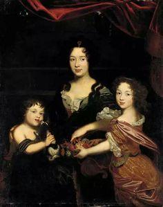 Diane de Thianges duchesse de Nevers (et ses enfants), fille de Gabrielle marquise de Thianges