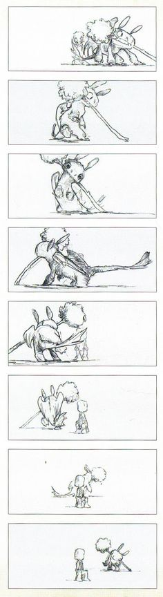 Chris Sanders How You Train Your Dragon Storyboard http://cartoonconceptdesign.blogspot.com.au/2013/05/chris-sanders-how-to-train-your-dragon.html