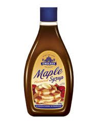maple flavoured syrup for waffles / piklets