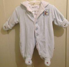 DISNEY BABY Winnie The Pooh Snow Suit 3 Months Infant Winter Cotton Boy Girl