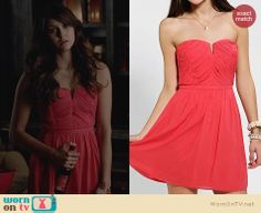 Elena's red party dress on The Vampire Diaries. Outfit Details: http://wornontv.net/23125 #TheVampireDiaries #TVD