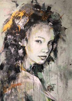 """Saatchi Art Artist Joost Verhagen; Painting, """"'Portrait of Louisa'"""" #art"""