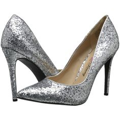 Penny Loves Kenny Opus-Glitter High Heels, Silver ($40) ❤ liked on Polyvore featuring shoes, pumps, silver, penny loves kenny shoes, silver high heel pumps, silver sparkle pumps, sparkly pumps e silver high heel shoes