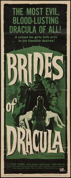 "Movie Posters:Horror, Brides of Dracula (Universal International, 1960). Insert (14"" X  36""). Horror.. ... (Total: 1 Item)"