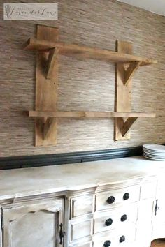 Floating Shelves in dining room