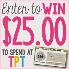 Teachers pay Teachers Gift Card Giveaway!