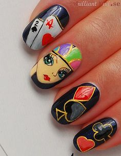 "Nail Art ""Poker Face"" by BrilliantNail, via Flickr"