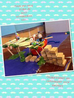 Wat een leuke uitdaging! Bouw een brug, via Twitter @Kleuterjuf groep 1/2a Bob The Builder, Saint Nicholas, Collaborative Art, Stem Activities, Primary School, Alice In Wonderland, Inventions, Science, Kids