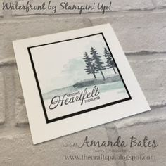 The Craft Spa - Stampin' Up! UK independent demonstrator : Super Simple Misty Waterfront Trees...