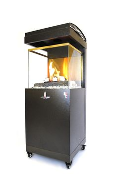 I would LOVE to have this indoor/outdoor propane fireplace/heater. With 3 sided tempered glass panels to view beautiful dancing flame. Outdoor Propane Fireplace, Modern Outdoor Fireplace, Portable Fireplace, Propane Patio Heater, Fireplace Heater, Outdoor Heaters, Propane Tanks, Natural Gas Patio Heater, Radiant Heat