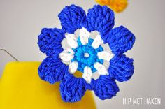 Crochet flowers / Gehaakte bloemen #byClaire door Hip met Haken