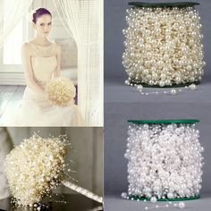 5 Meters White Fishing Line Artificial Pearls Beads for DIY Garland Flowers Wedding Decoration Supplies Bride Flowers Accessory Wedding Decoration Supplies, Rustic Wedding Decorations, Party Decoration, Garland Wedding, Flower Decorations, Diy Wedding, Wedding Ceremony, Wedding Parties, Wedding Supplies