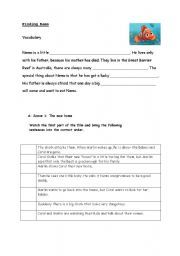 English teaching worksheets: Finding Nemo