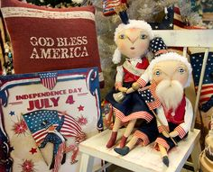 Joe Spencer's smaller Patriotic dolls go great with all kinds of decor!