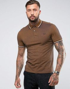 Fred Perry Slim Fit Tipped Oxford Weave Polo In Mustard