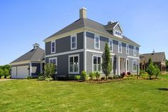 Pittsburgh Paints' Dover Gray 518-5 is an excellent exterior color choice, especially when paired with trim in Gypsum 520-1.