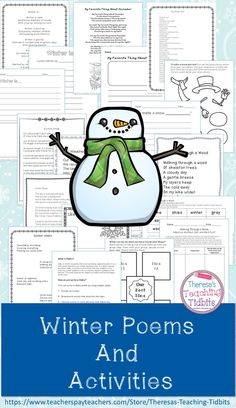 Winter Poems and Activities