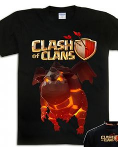 COC Clash of Clans t shirt Lava Hound t shirt short sleeve