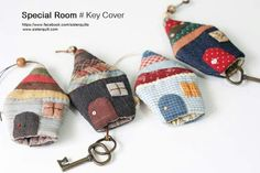 Key Covers, Free Machine Embroidery, Quilt Patterns, Decoupage, Diy And Crafts, Applique, Projects To Try, Coin Purse, Cute Animals