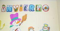Poco a poco vamos decorando la clase con motivos relacionados con el invierno. En esta ocasión hemos realizado estos bonitos muñecos de nie...