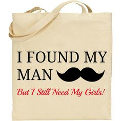 Bachelorette Bridal Party Tote Bag I Found My Man But by IDoTotes, $15.99